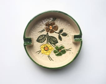 Mid Century Bitossi Flower Decor Ash Receiver
