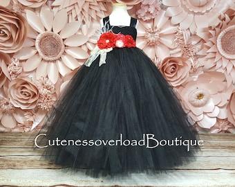 Black Wedding Tutu-Black Flower Girl Tutu Dress-Black Girl Tutu-Black Girl Tutu-Black Tutu Dress-Black Halloween Tutu-Black Wedding Tutu
