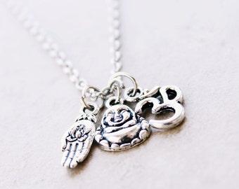 Buddha Necklace - Spiritual Yoga Jewelry - Chain Jewelry Fashion Accessories