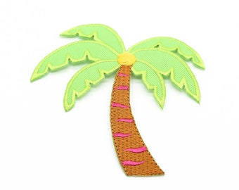 Palm Tree Embroidered Iron On Patch