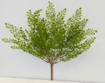 JennysFlowerShop 18'' UV Protected Maidenhair Fern Artificial Bush Indoor/Outdoor Water-Resistant Greenery