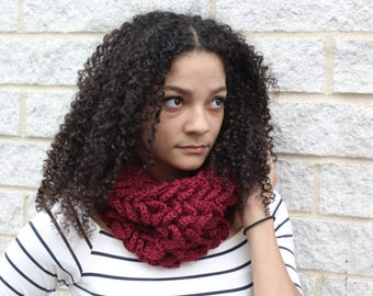 Winter scarf, Chunky infinity scarf, Crochet scarf- The Abela- Fall fashion scarf, Gift for her,Infinity scarf