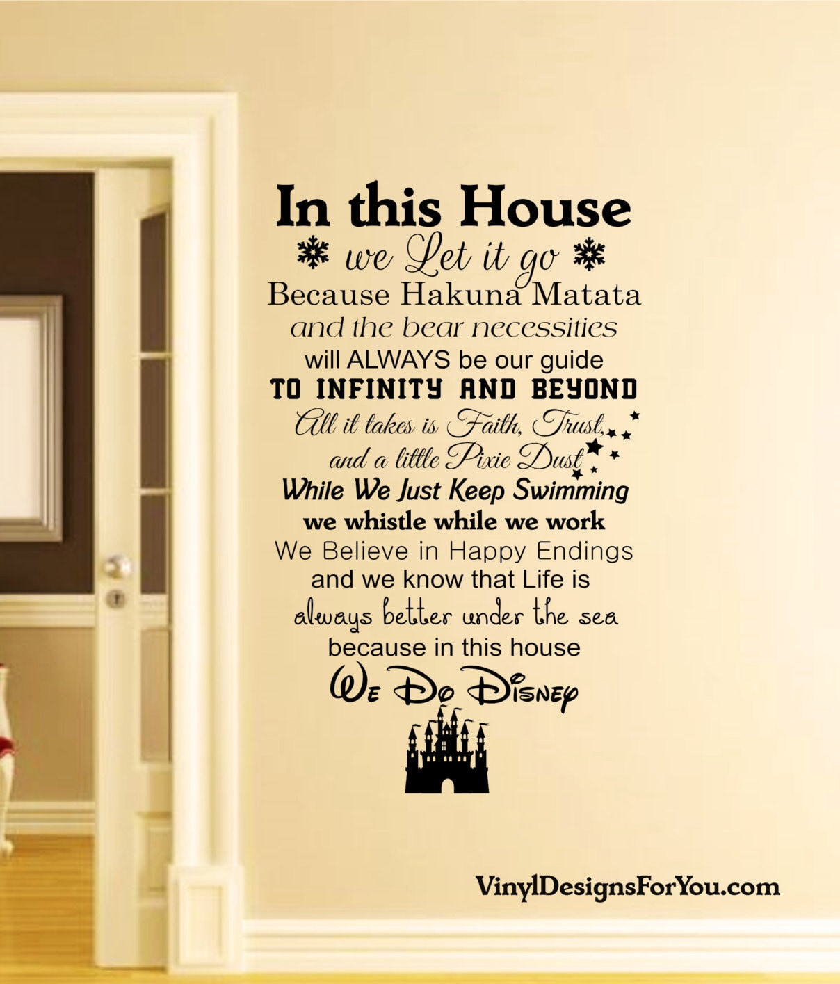 In this House We Do Disney Wall DecalsWall DecalDisney