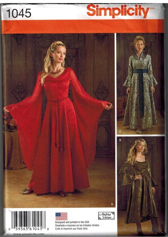 sc 1 st  Etsy & Game of Thrones Inspired Dress Sewing Pattern Simplicity 1045