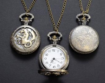 Fullmetal Alchemist State alchemist pocket watch – Edward Elric cosplay prop – jewelry / jewllery