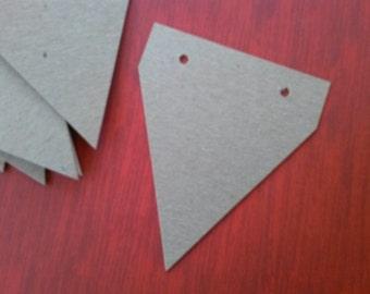 10 Chipboard banner, bunting, garland blanks