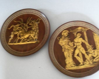 Greek Handmade In Greece Plates By A. Karol