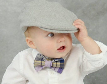 Plaid Bow Tie for Boys - Lavender Bow Tie - Wedding Tie - Vintage Bow Tie - Blue Bow Tie for Kids - Baby Bow Ties for Little Boys