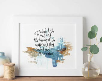 The Sea of Galilee Print, Christian Art Print, Bible Verse Print, Scripture Art,  Faith Print, Home Decor, Wall Art, Eco Friendly