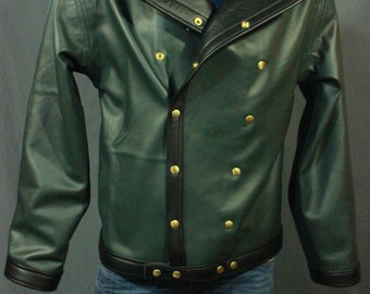 Our Biker Jacket in Forest Green