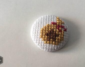 Handmade Animal Crossing Money Bag Cross Stitch Button / Magnet
