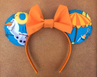 Olaf Frozen Celebrate Summer Minnie Mouse ears