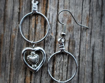 Dangle Heart Earring