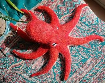 Handmade Felted Octopus