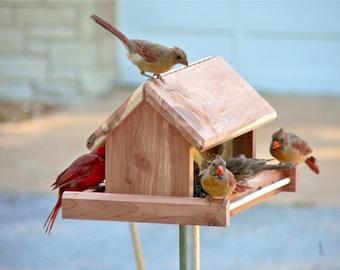 "10"" Bird Feeder made of solid aromatic red cedar"