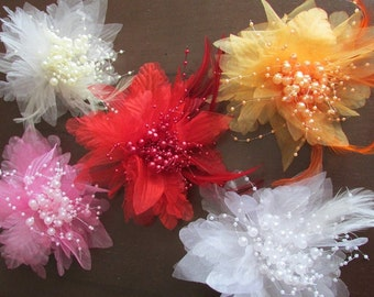 Flower Hair Clip and Brooch Pin