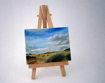 Miniature Painting, landscape painting, oils, pathway, original art