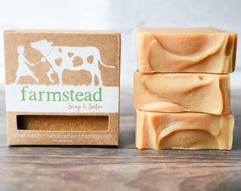 Cream Line Soap // Natural Soap, Jersey Milk Soap, Tallow Soap, Cold Process Soap, Farm Soap, Handcrafted Soap
