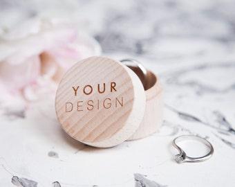 Custom Ring Box - Wedding Ring Box - Wooden Ring Box - Personalised Ring Box - Wedding Rings Box - Ring Bearer Box - Personalized Ring Box