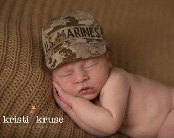 MARINE Baby Military Caps, Marine Baby, Marine Hat, Military Baby, USMC Inspired