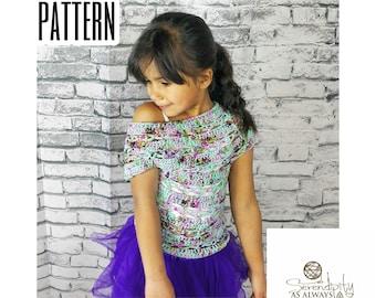 Crochet PATTERN | Girl's Summer Top Crochet Pattern | Brorealis Top Pattern | Little Girl's Crochet Patterns | PDF Digital Download