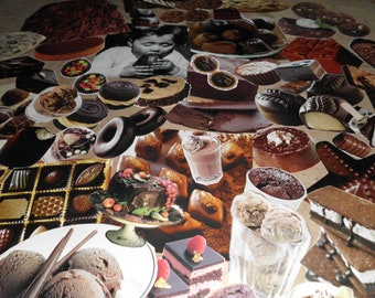 55 Piece Ephemera Pack Chocolate Images High Quality Cakes Chocolates Candy Ice Cream Bars Brownies Pies Pudding and More Luscious Inviting