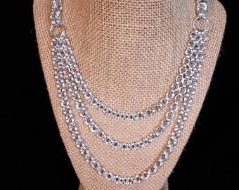 Three Tiered Byzantine and 2-in-2 Necklace (free earrings)