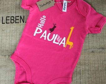 "Customizable Babysuit ""Hello Paula"""