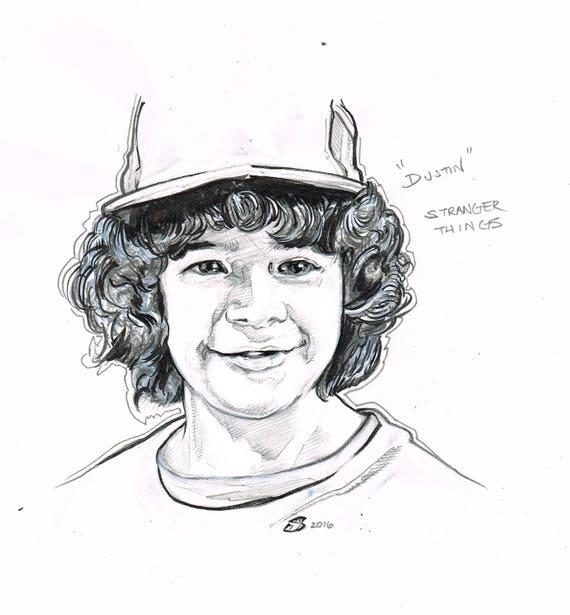 stranger things dustin original art