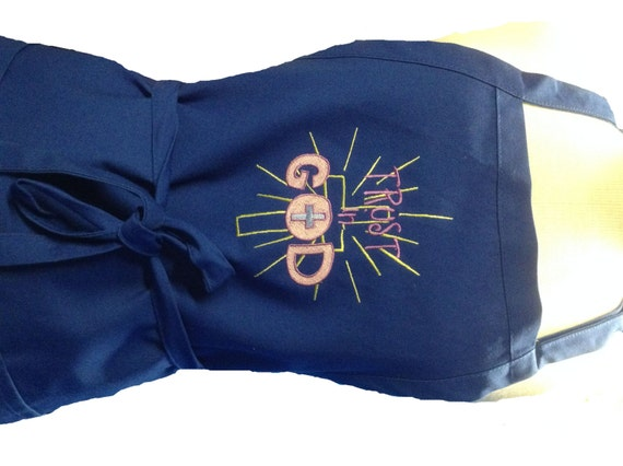 Trust in God (with a cross) Apron! Great Easter gift! Apron made in USA!