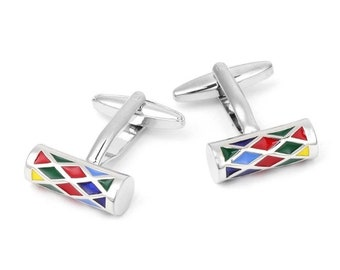 Colorful Cylinder Cuff Links