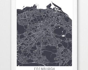 Edinburgh City Urban Map Poster, Edinburgh Street Map Print, Edinburgh Scotland U.K, Modern Wall Art, Home Decor Travel Poster Printable Art