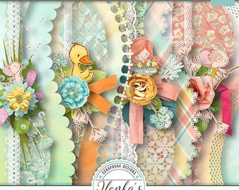 Hugs, Kisses And Springtime Wishes Borders