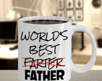 Dad gift from daughter, World's Best Farter (Father), Birthday Gift for Dad, Dad gift from son, Gift for Dad from kids