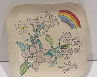 Square breakfast plate