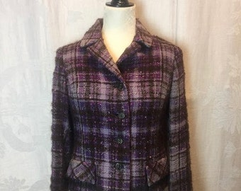 118. B. ALTMAN & CO.- Plaid Tweed Jacket