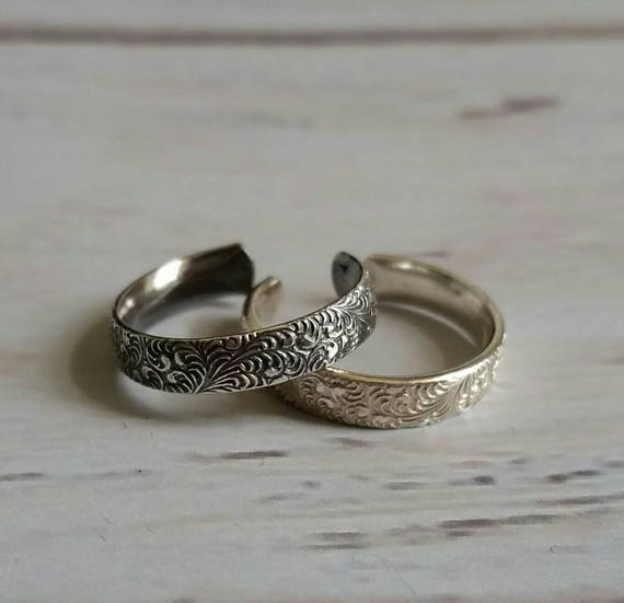 Fern Floral Sterling Silver Toe ring
