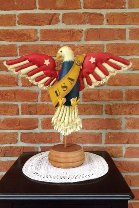 Freedom - Mailed Cloth Doll Pattern American Folk Art 4th of July Eagle Bird