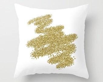 Gold Pillow, Velveteen Gold Pillow Cover, Gold, Decorative Pillow, Gold Accent Pillow, 18x18 Pillow Cover, 22x22 Pillow, Gifts for Her