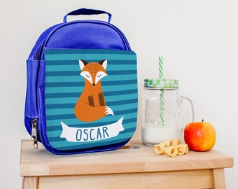 Children's Lunch Bag - Personalised Insulated Lunch Bag - Fox Lunch Box