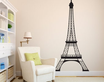 Eiffel Tower Wall Decal   7 Feet High Decal   Paris Wall Decor