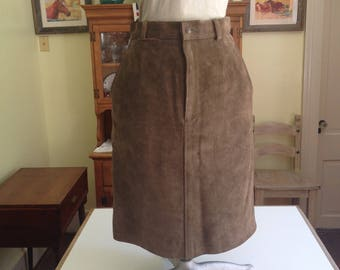 Ralph Lauren Lined Leather Skirt Size 8