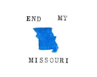 END MY MISSOURI Postcard