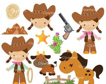 ON SALE INSTANT Download. Cowgirl clip art. Ccg_ 7. Personal and commercial use.