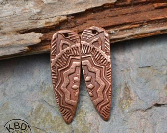 Medallion Shard, Copper Point shaped pair