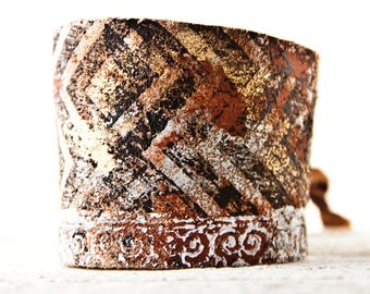 Leather Jewelry Wrist Cuff, Leather Cuff Bracelet, Leather Wrist Band for Women