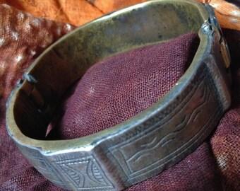 Old Rare, 2 Layered, Brass, Copper Bracelet, Mauretania