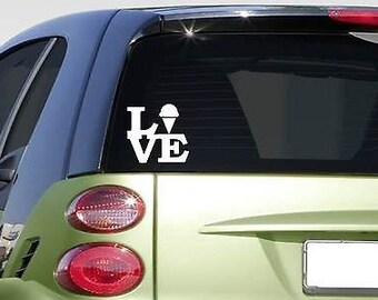 "Ice Cream Love 6"" Sticker *F264* Decal Car Decal Window  Laptop Cone Parlor"