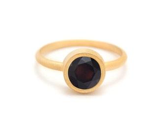 Onyx in Gold Gemstone Ring - Yellow Gold Ring - Gemstone Ring - Black Onyx Ring - Sizes 4.5, 5, 5.5, 6, 6.5, 7, 7.5, 8, 8.5, 9, 9.5 and 10