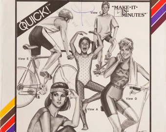 Vintage Stretch & Sew 312, Tights and Bicycle Shorts, Quick, Make it in Minutes, All sizes